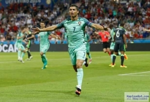Ronaldo equals Platini's Euros record